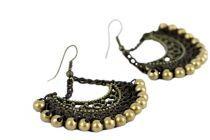 Boucles d'oreilles perles et cuivre