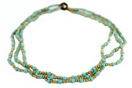 Collier de perles turquoise
