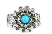 Bracelet fleur argent femme