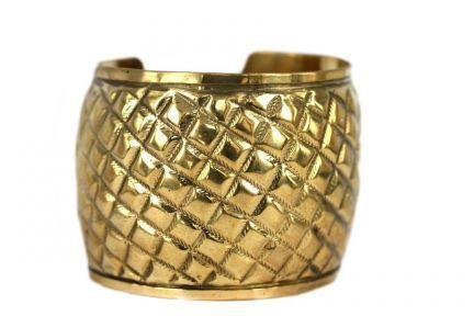 Bracelet manchette couleur or