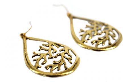 Boucles d'oreilles originales dorées