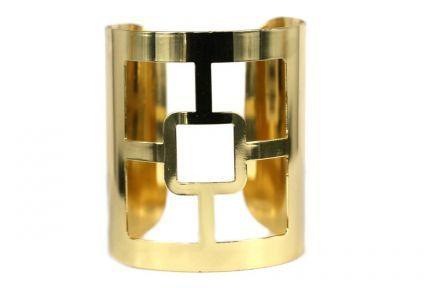 Bracelet grande manchette dorée