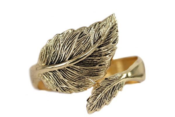Bracelet feuille d'or