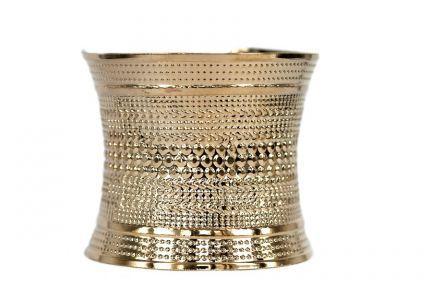 Bracelet manchette rigide or