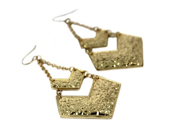 Boucles d'oreilles triangle d'or