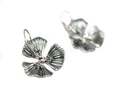 Boucles d'oreilles fleurs argent