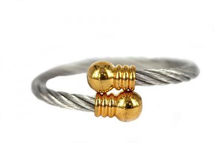 Bracelet argent et cuivre d'or
