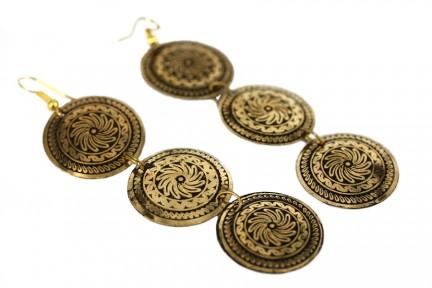 Boucles d'oreilles anneaux or dorées