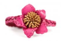 Bracelet fleur rose mariage demoiselle d'honneur
