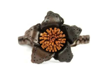 Bracelet en cuir marron véritable