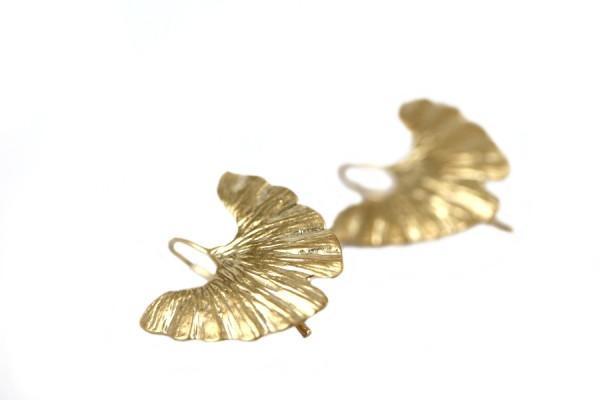 Boucles d'oreilles nénuphars d'or