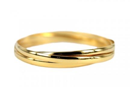 Bracelet jonc rigide  couleur or jaune