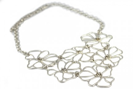 Collier argent mariage chic