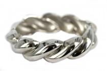 Bracelet torsade argent