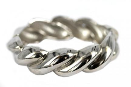 Bracelet argent torsadé