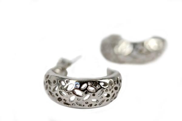 Boucles d'oreilles lune argent