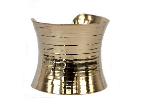 Bracelet large doré or