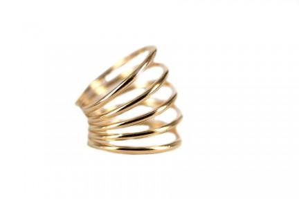 Bague en spirale or