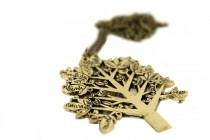 Bijoux collier avec pendentif arbre de vie or