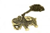 Collier avec pendentif original et fashion pour fille éléphant