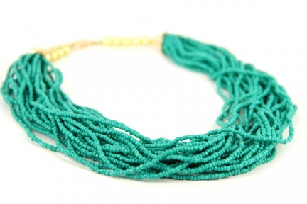Collier perles turquoise pas cher