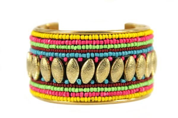 Bracelet brésilien rigide avec perles