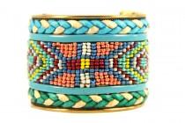 Bracelet manchette brésilien style hipanema fin pas cher