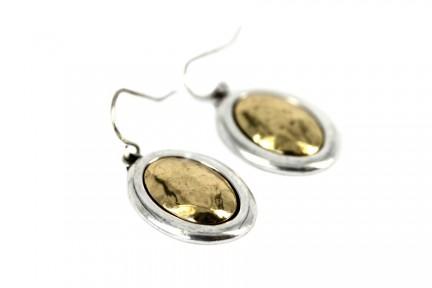 Boucle  d'oreilles or et argent