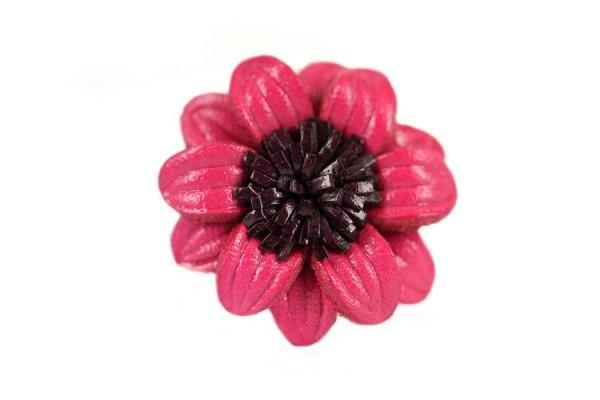 Bague en cuir Vieux rose