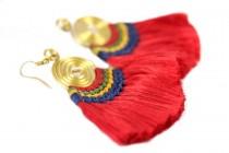 Boucles d'oreilles latine d'Amérique du sud