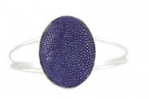 Bracelet en galuchat bleu pas cher