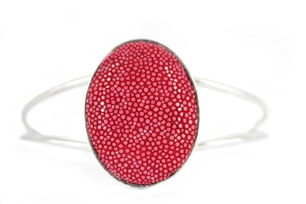 Bracelet Galuchat corail