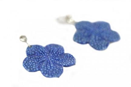 Boucles d'oreilles fleur frangipanier