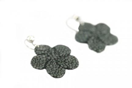 Boucles d'oreilles noires pendantes