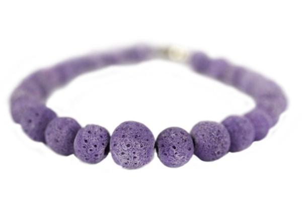 Bracelet en corail mauve