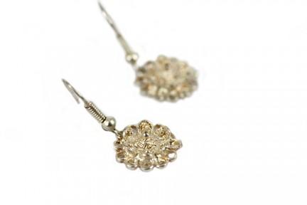 Boucles d'oreilles fleur de tiaré argent