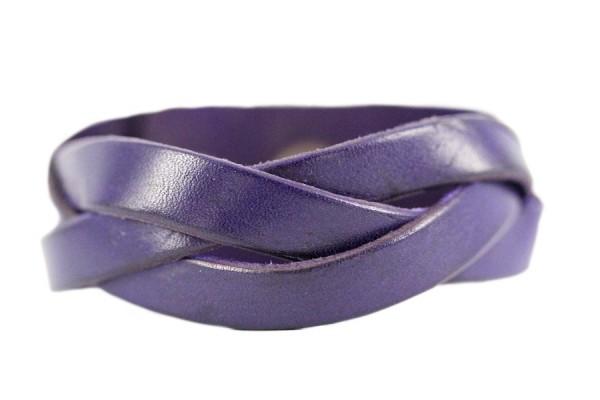 Bracelet en cuir avec bouton pression