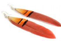 Boucle d'oreilles plumes pas cher