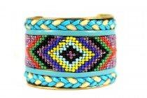 Bracelet amérindien femme et homme en turquoise et argent
