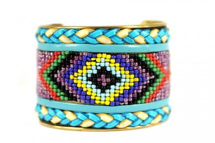 Bracelet amérindien turquoise et argent