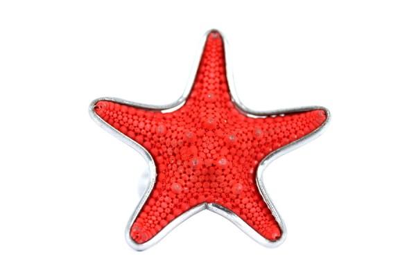 Bague étoile de mer Rubis