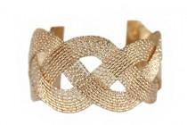 Bracelet femme or torsadé