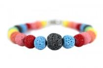 Bracelet avec boules de couleur
