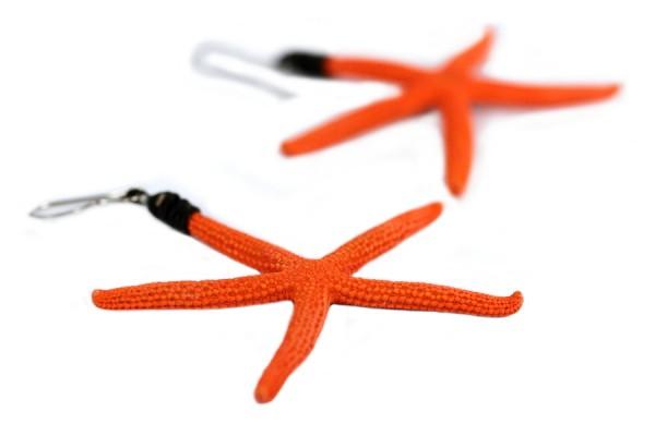 Boucles étoiles de mer corail