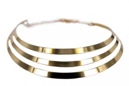 Large et gros collier doré
