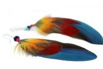 Boucles d'oreilles avec plumes très longues