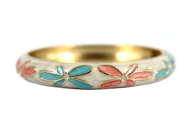 Bracelet jonc ouvert rose
