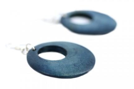Boucles d'oreilles anneau bois