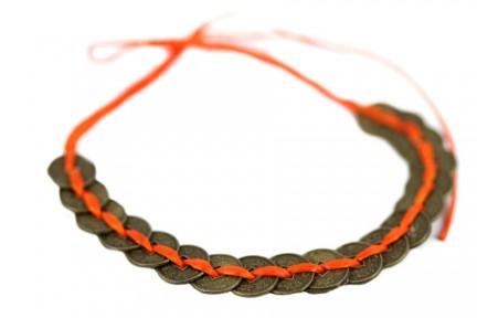 Bracelet pièce chinoise de monnaie