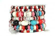 Bracelet multi lien et multirangs en argent pour femme